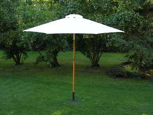 Foot Ivory Outdoor Patio Deck Market Umbrella Tilt