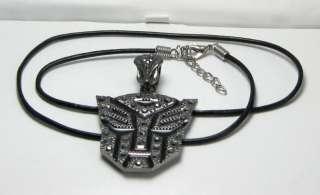 MEN Black Leather Necklace Cord w/ TRANSFORMER pendant