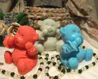 Silicone Baby Bear With A Pacifier Soap Candle Mold
