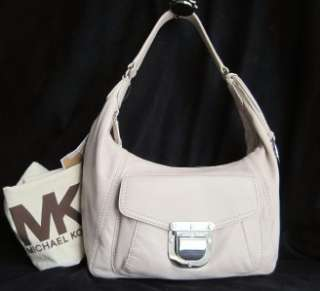 New MICHAEL KORS Waverly Vanilla Ivory Leather Hobo Shoulder Bag $278