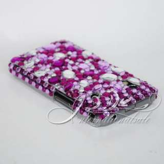Purple White Bling Case for SAMSUNG GALAXY ACE S5830 US