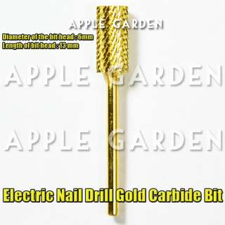 1pc Electric Nail Drill Gold Carbide Bit Model #A #483A