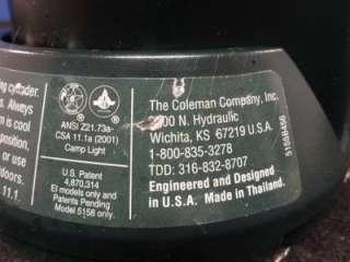Coleman Model 5155A/5158 Portable Propane Lantern X15