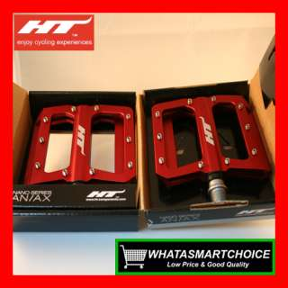 NEW AN01 RED Mountain & BMX Bicycle Bike Pedals