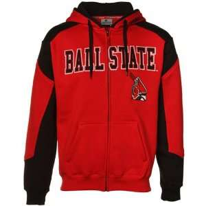 Ball State Cardinals Cardinal Black Challenger Full Zip