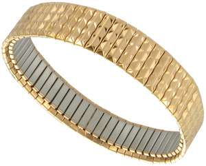 Mens Speidel Stretchy Link Design Rose Gold Tone Bracelet