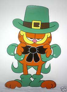 CARTOON FAT CAT ST PATRICKS DAY YARD ART DECORATION.
