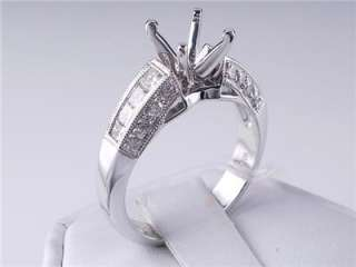 64 CTW DIAMOND SEMI SET ENGAGEMENT RING WHITE GOLD