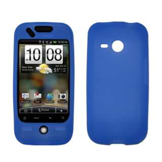 for HTC Droid Eris Soft Silicone Gel Skin Case Blue 654367615003