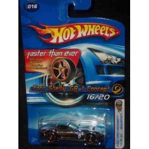 Hot Wheels 2005 016 Ford Shelby GR 1 Concept Silver FTE Realistix 164