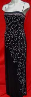Leggy Bombshell Black Floral Vines Trellis Spaghetti Strap Dress M 6 8