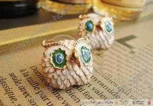Apair fashion cute owl earrings