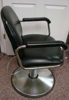 Black Vinyl Black Chrome Swivel Base Adjustable Barber Beauty Shop