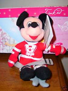 DISNEY HOCKEY PLAYER MICKEY MOUSE PLUSH STUFFED ANIMAL