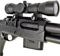 DE RIS Airsoft Spring Shotgun w/ Pistol Grip & Red Dot
