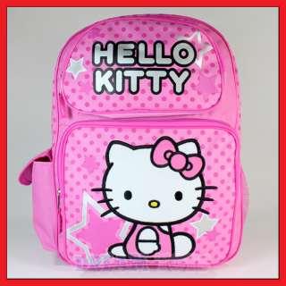 16 Hello Kitty Stars and Polka Dot Pink Backpack   Girls Kids Bag
