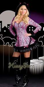 Sexy Pouncer Cat Faux Fur Hoodie Dress Halloween Costume 3X/4X 18 20