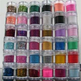 JUMBO SIZE BOTTLE Acrylic UV Gel Nail Art Color, Glitter Powder, Slice