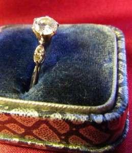 14K White Gold Diamond Wedding & Engagement Ring Set 1968 Vintage
