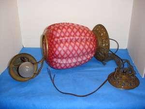 Victorian MOP glass hanging lamp, circa 19th century
