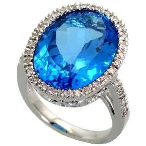 White Gold Ring, w/ 0.30 Carat Brilliant Cut Diamonds & 25.0 Carats