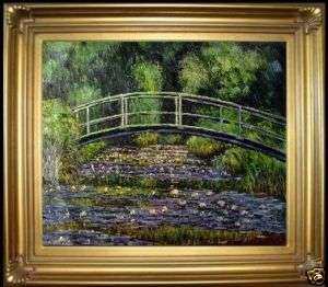 Hand Painted Oil Painting Repro Claude Monet Japanese Bridge