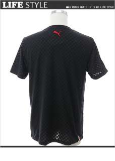 PUMA Ferrari Logo Mens Short Sleeve T Shirt Black M XXL