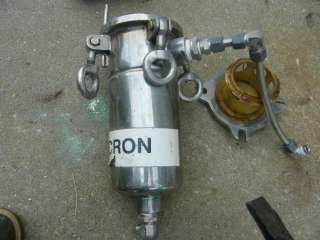 Small Stainless Steel Micron Basket Filter 1 line