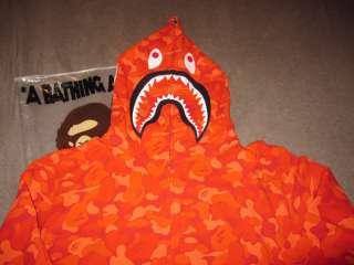 BAPE A BATHING APE SOEUL LIMITED RED CAMO SHARK HOODY XXL