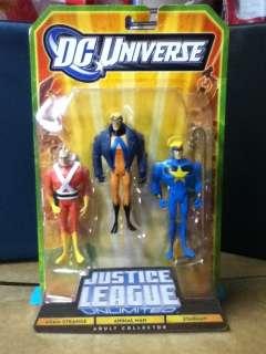 DC UNIVERSE JLU 3 PACK ADAM STRANGE ANIMAL MAN STARMAN MOSC