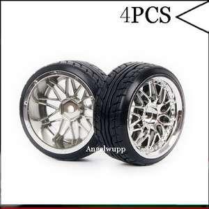 10 Car On road 26MM 10Y Spoke Wheel Rim & Drift Tyre,Tires 1008 9014