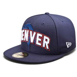 Mens New Era Denver Broncos Draft 59FIFTY® Structured Fitted Hat