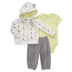 NWT Carters Infant Boys 3 Pc Daddys Best Friend Cardigan Set   Was