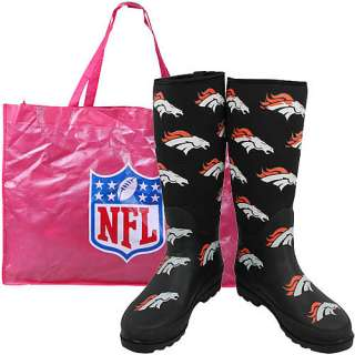 Cuce Shoes Denver Broncos Womens Enthusiast Rain Boot