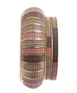 null (Multi Col) Pastel Sparkle Bangles  243734599  New Look