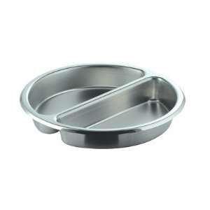 Divided Medium Round Stainless Steel Food Pan Kitchen