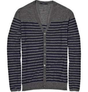 Clothing  Knitwear  Cardigans  Cashmere Striped