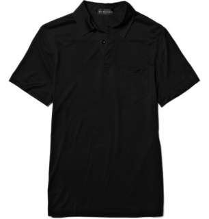 Ralph Lauren Black Label Silk Polo Shirt  MR PORTER