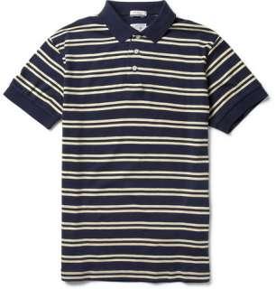 Polos  Short sleeve polos  Striped Cotton Jersey Polo Shirt