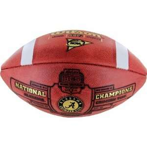 Nick Saban Autographed Alabama Commemorative Champion Football: