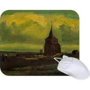 Rikki Knight Van Gogh Art Old Tower Mouse Pad Mousepad