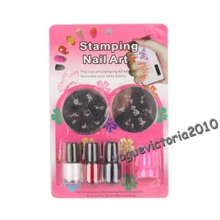 Geblüht Nail Art Stamping Schablone Hello Kitty Set