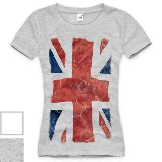 UNION JACK T Shirt Damen women united kingdom flag london girl XS S M