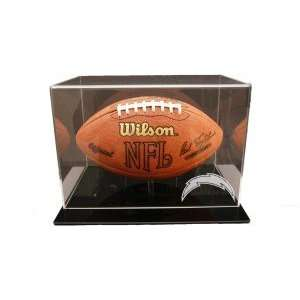 San Diego Chargers Black Acrylic Football Display  Sports