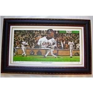 Barry Bonds San Francisco Giants Framed 500 Home Run