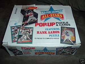 1986 Donruss All Star Pop Up/Puzzle Cards 36 packs box