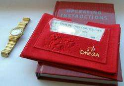 OMEGA CONSTELLATION YELLOW GOLD DIAMONDS LADIES WATCH SWISS