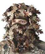 HS Camo Realtree APG HD 3D Cut Leaf Leafy Gillie Head Net Headnet Face