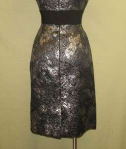 Alex Marie Silver & Black Short Sleeved Cocktail Party Mimi Dress 12