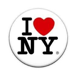 Love New York 1 Pin Button Badge (70s Retro Logo)